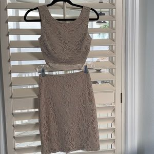 Shimmery gold two piece dress by City Studio